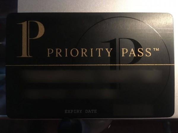 空港ラウンジが使い放題なプライオリティパスです。