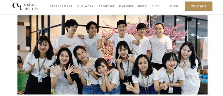 Asian Tech Japan Incのサイトの画像