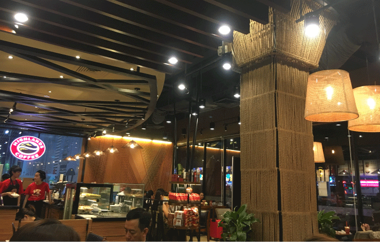 ハイランドコーヒーの中