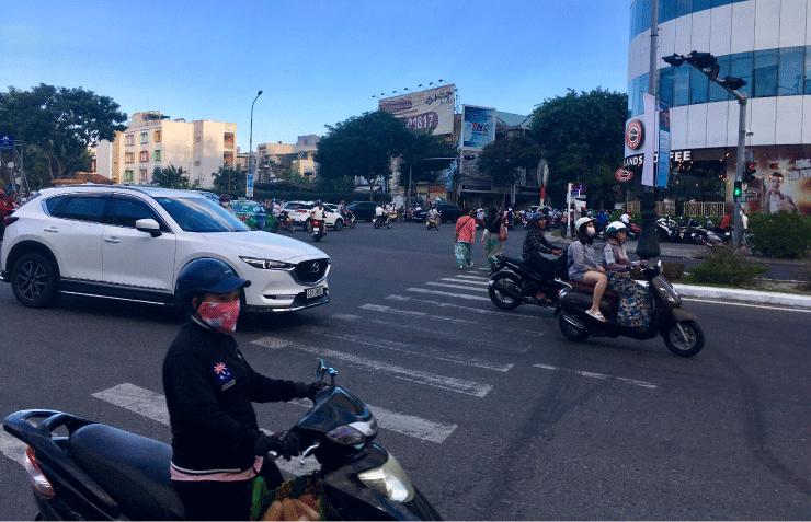 ベトナム、ダナンの渋滞