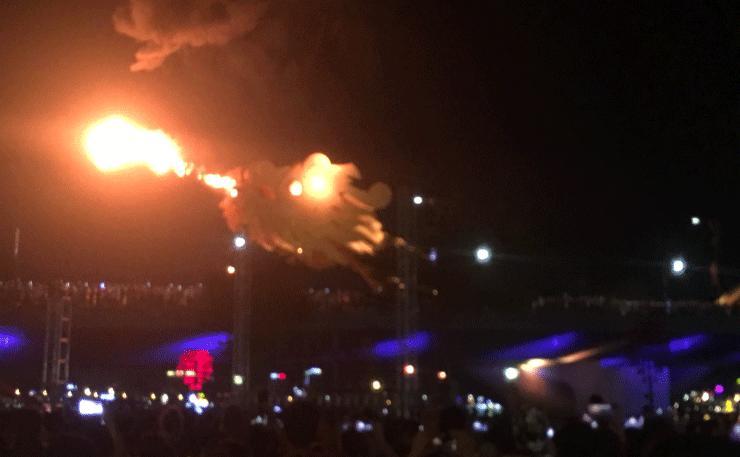 ダナンの火を吹くドラゴン橋