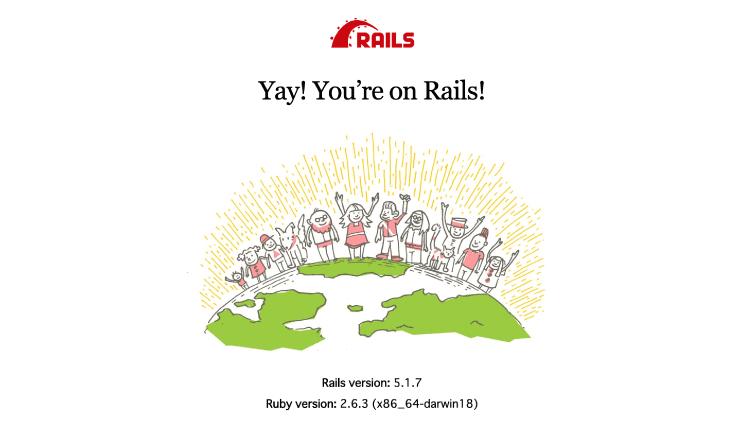 ruby on railsのインストール完了