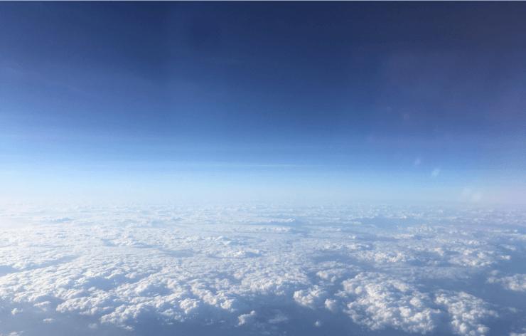 ホーチミンから関空への景色