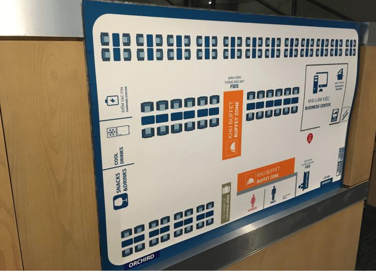ホーチミンの空港ラウンジORCHID LOUNGEのマップ