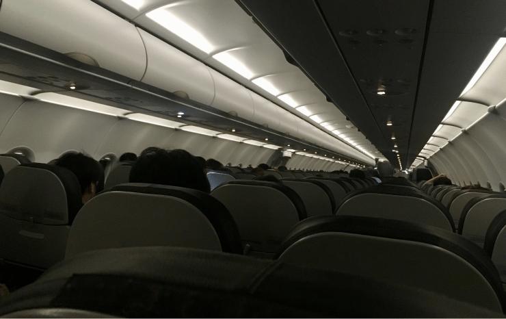 ベトジェットの機内