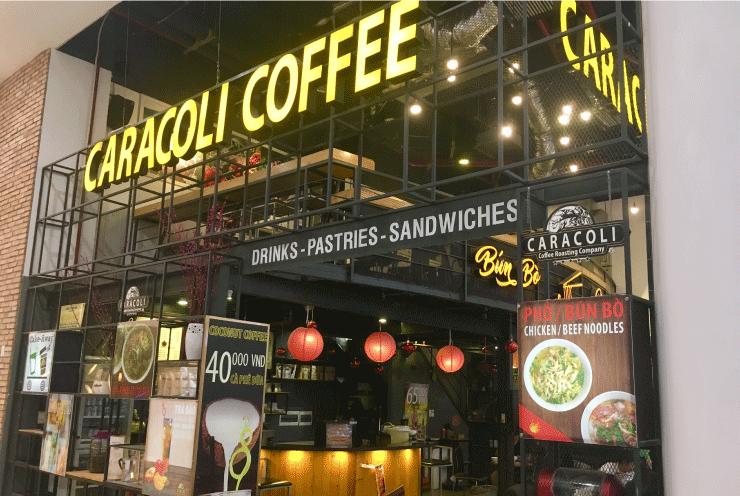 ベトナム、ダナンのVINCOMプラザ(ビンコムプラザ)の4階にあるコーヒショップ